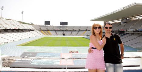 Старый стадион Барселоны.