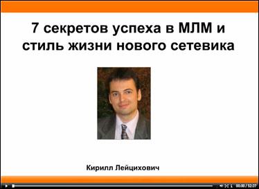 Вебинары Кирилла Лейциховича