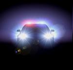 полицейская машина ночью